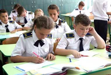 Учебная нагрузка у кадетов повышенная,  но дети справляются с вызовами